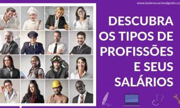 Descubra todos os tipos de Profissões e seus Salários!